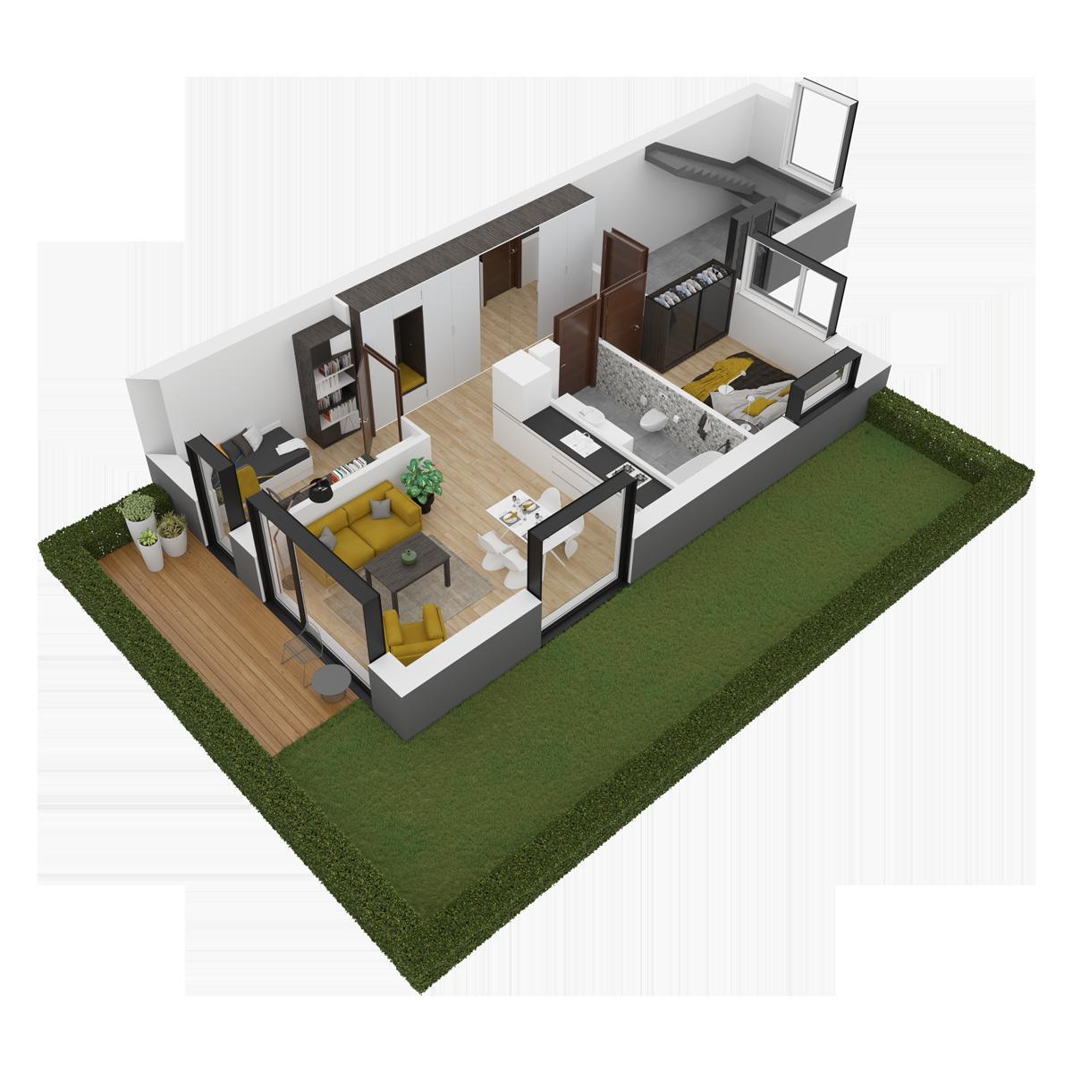 Mieszkanie nr 13 (segment: G / parter)