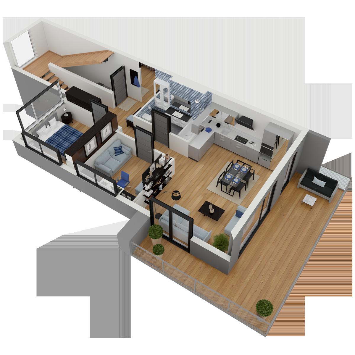 Mieszkanie nr 16 (segment: H / piętro)