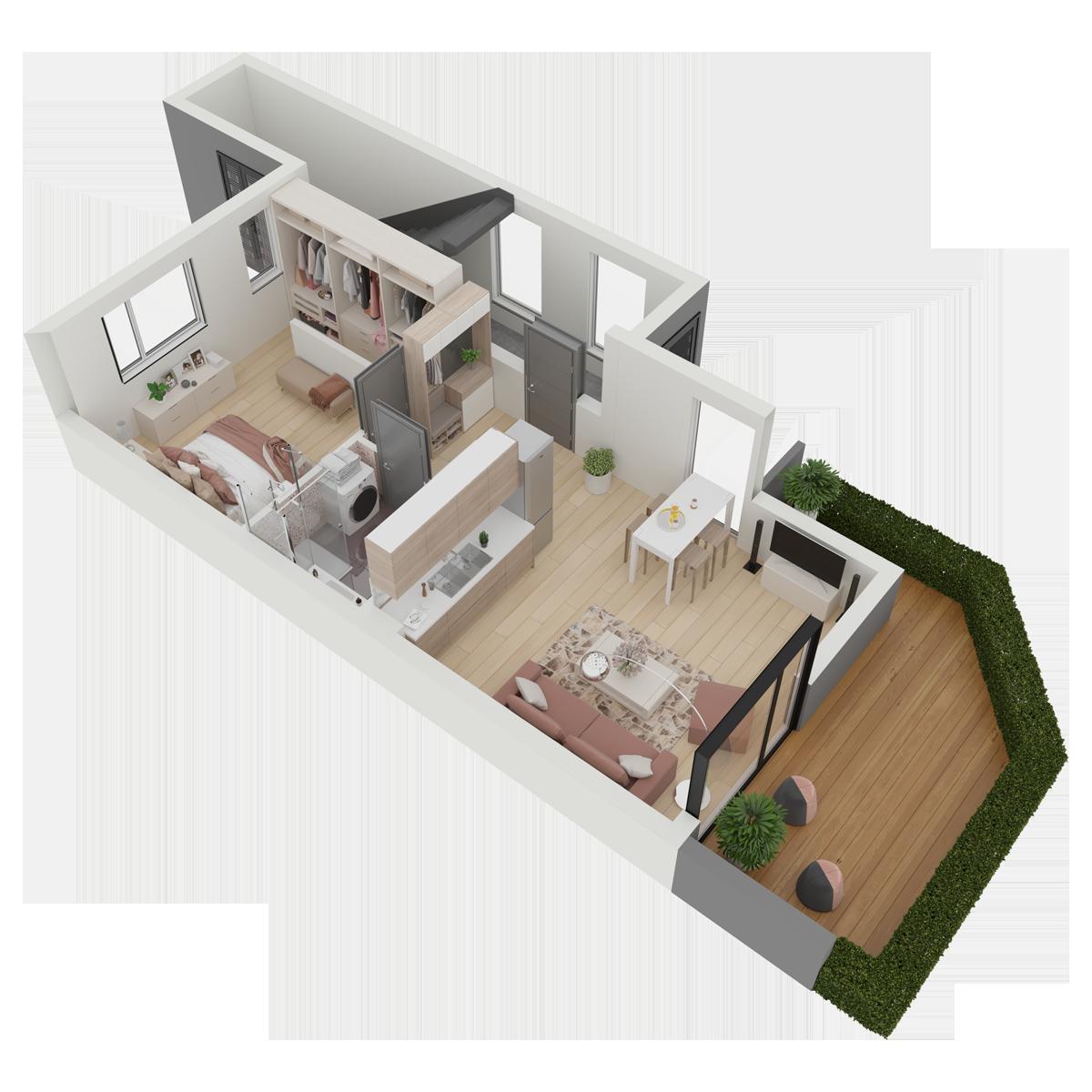 Mieszkanie nr 23 (segment: L / parter)