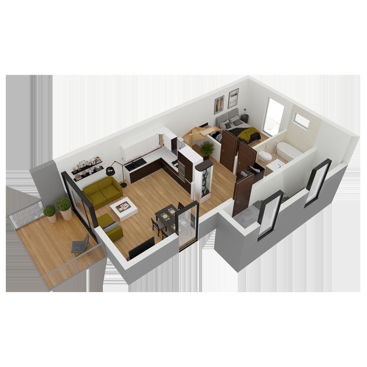 Mieszkanie nr 24 (segment: L / piętro)