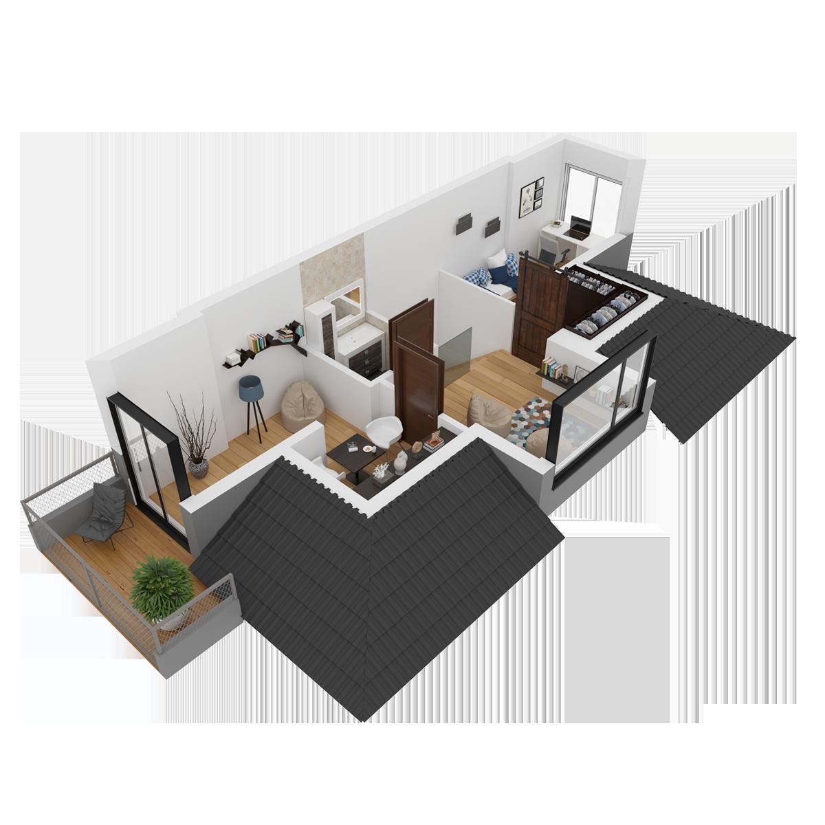 Mieszkanie nr 24 (segment: L / poddasze)