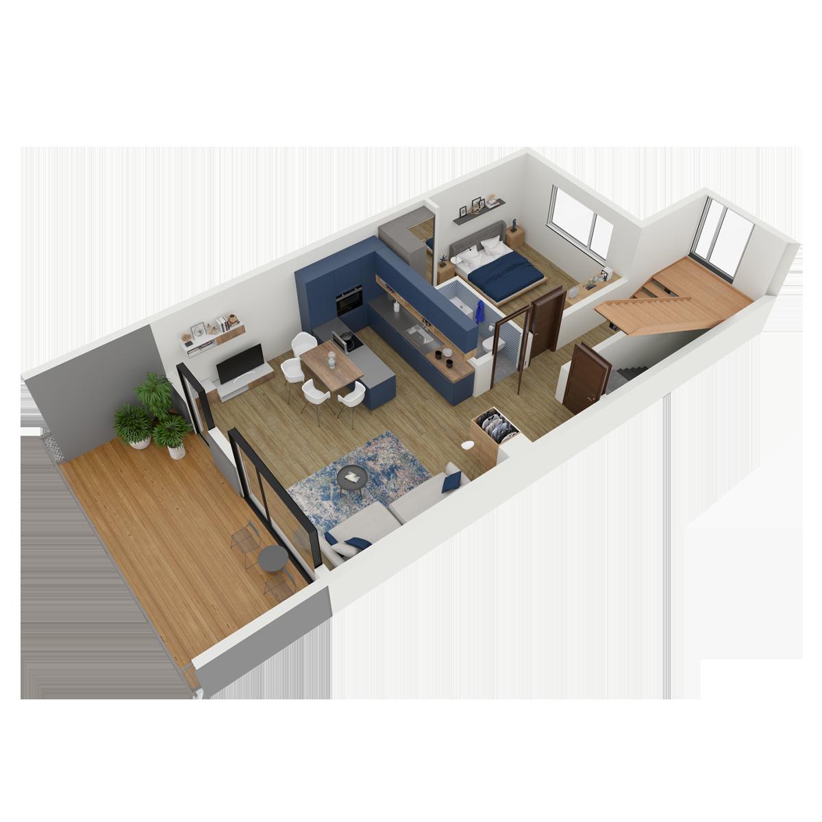 Mieszkanie nr 4 (segment: C / piętro)
