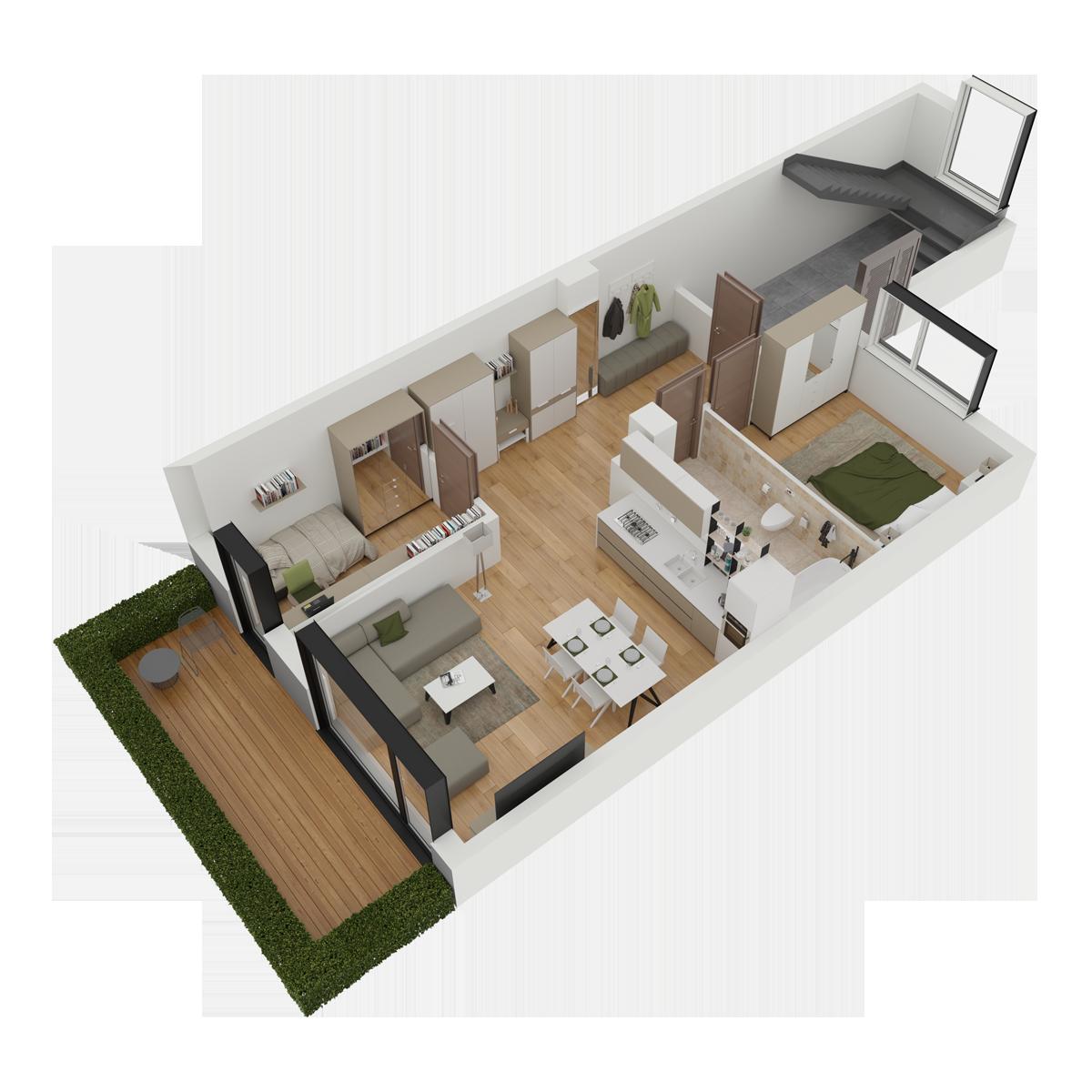 Mieszkanie nr 5 (segment: C / parter)