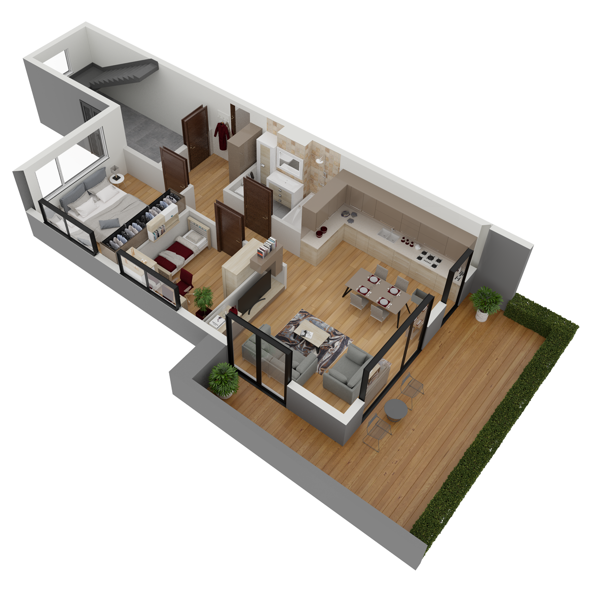 Mieszkanie nr 15 (segment: H / parter)