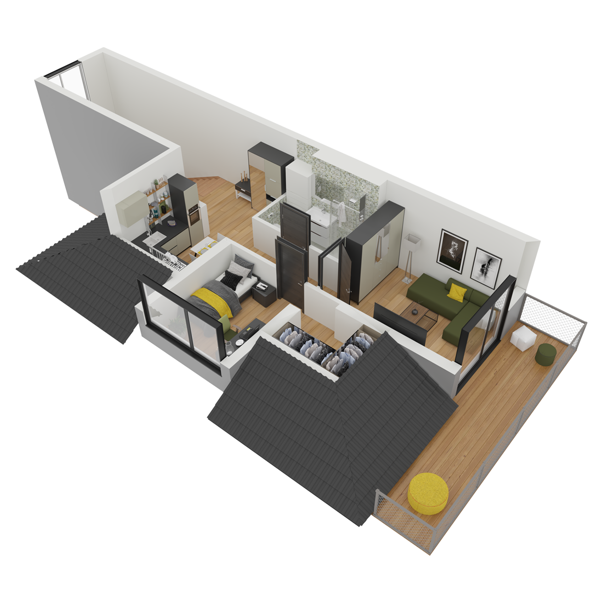 Mieszkanie nr 16 (segment: H / poddasze)
