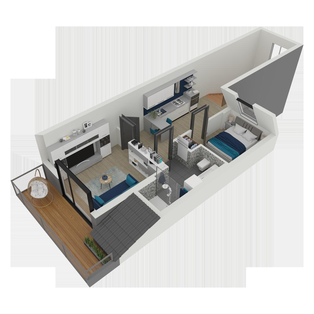 Mieszkanie nr 18 (segment: I / poddasze)