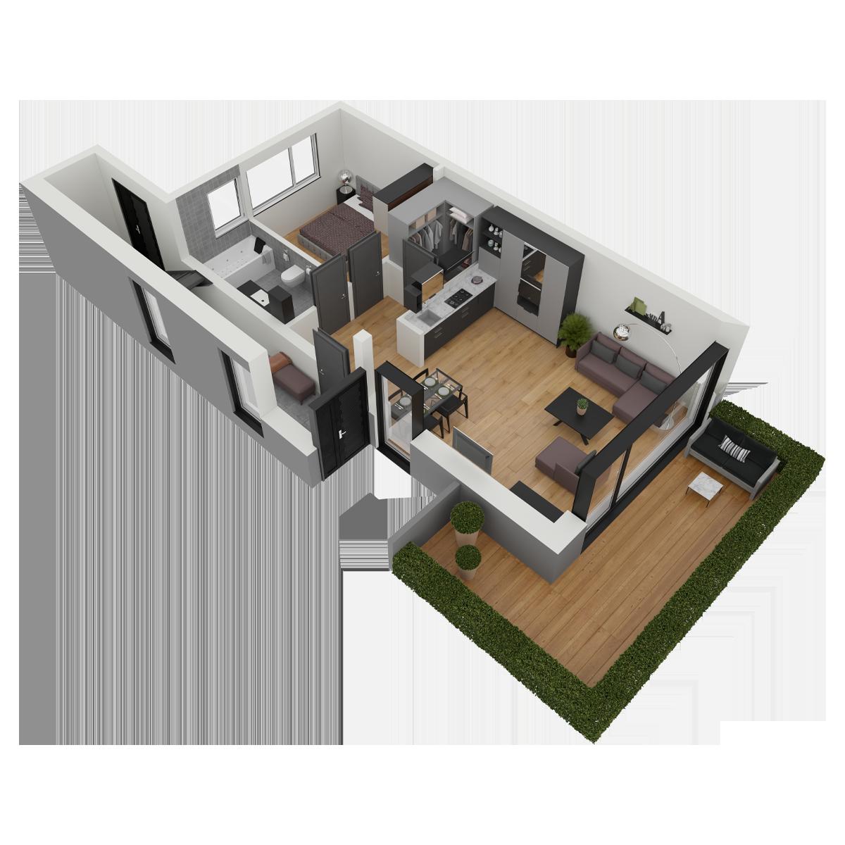 Mieszkanie nr 1 (segment: A / parter)
