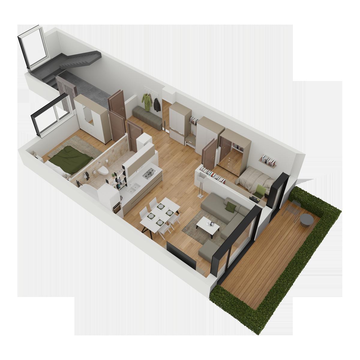 Mieszkanie nr 3 (segment: C / parter)