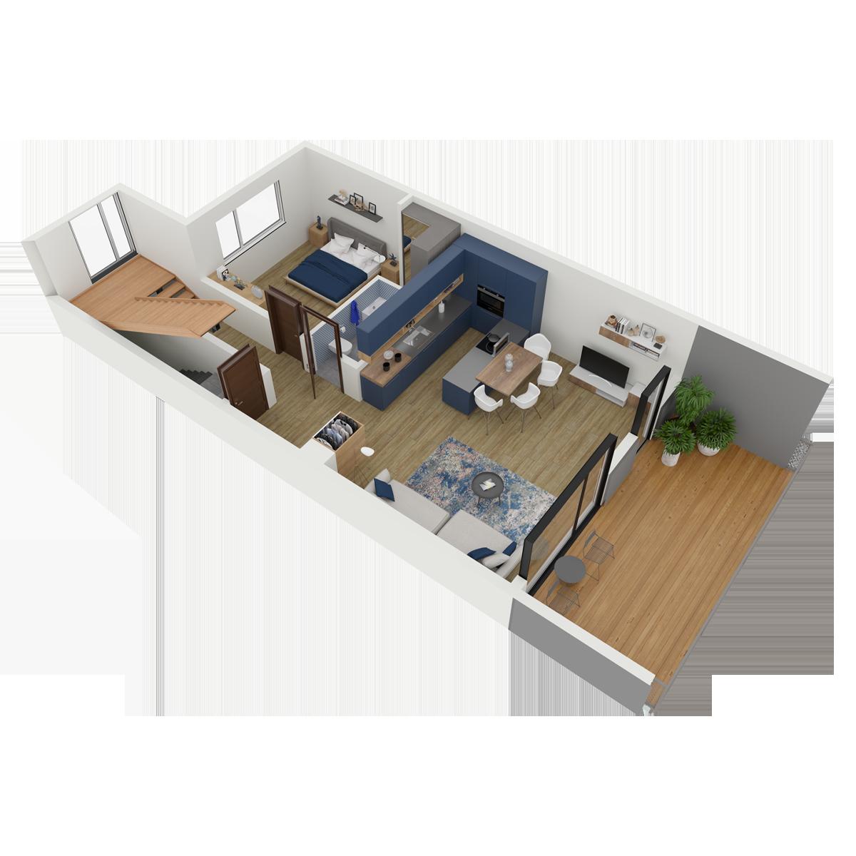 Mieszkanie nr 6 (segment: C / poddasze)