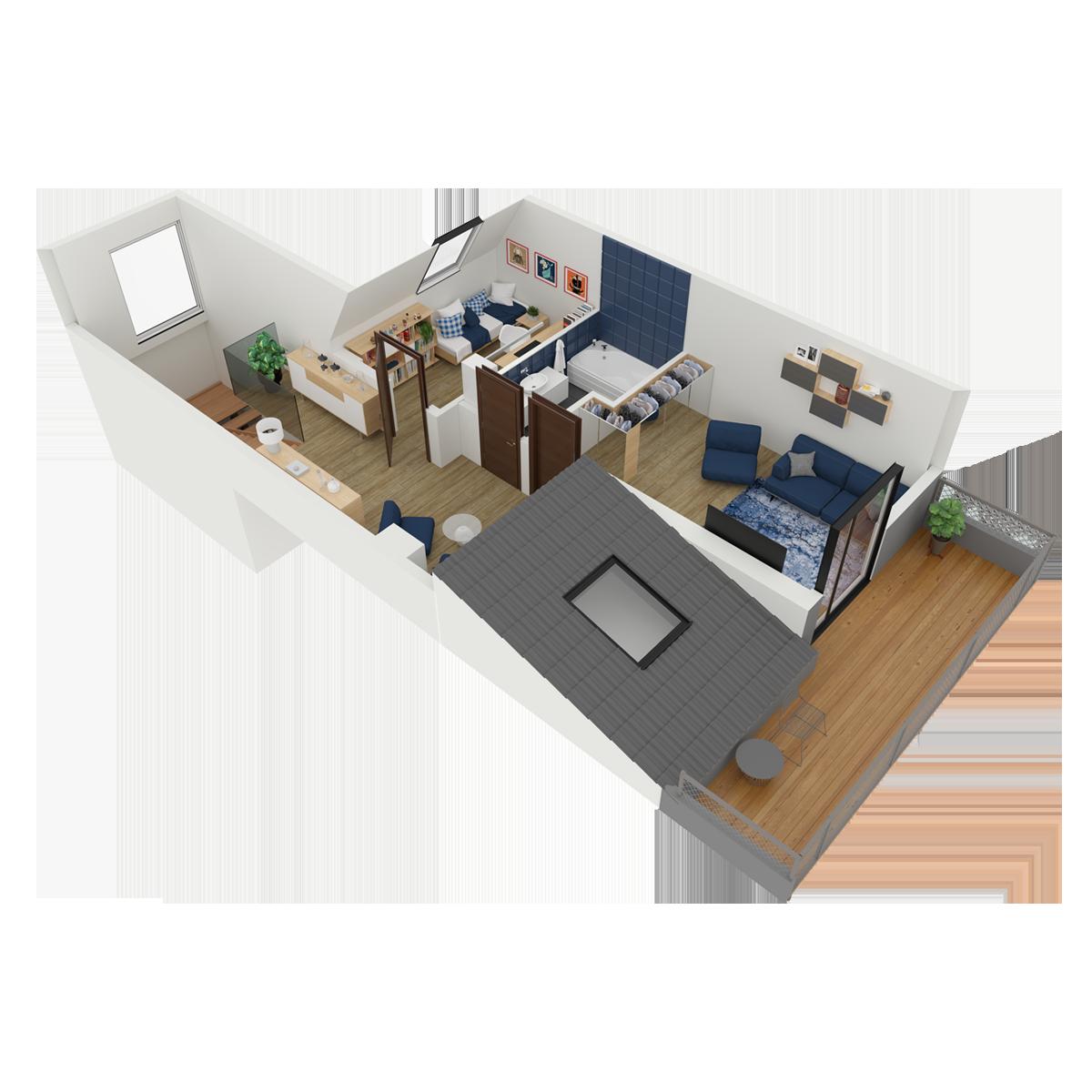 Mieszkanie nr 6 (segment: C / piętro)